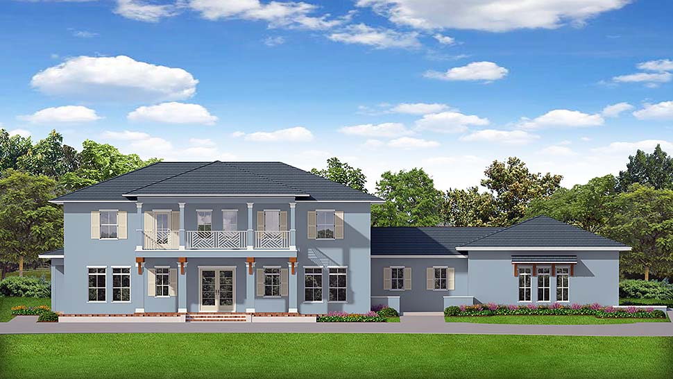 Colonial Mediterranean House Plan 50897 Elevation