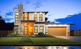 Coastal , Modern House Plan 50899 with 4 Beds, 4 Baths, 2 Car Garage Elevation