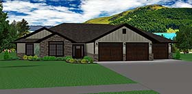 Ranch Traditional House Plan 50902 Elevation