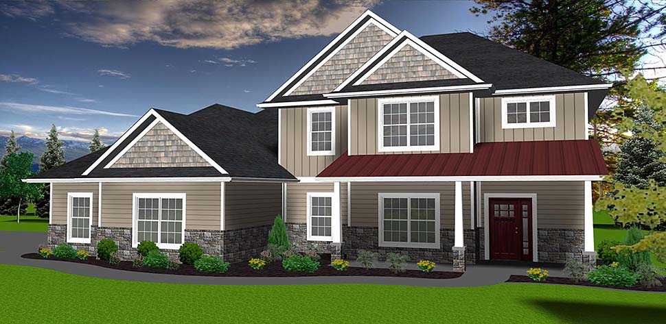 Traditional House Plan 50904 Elevation