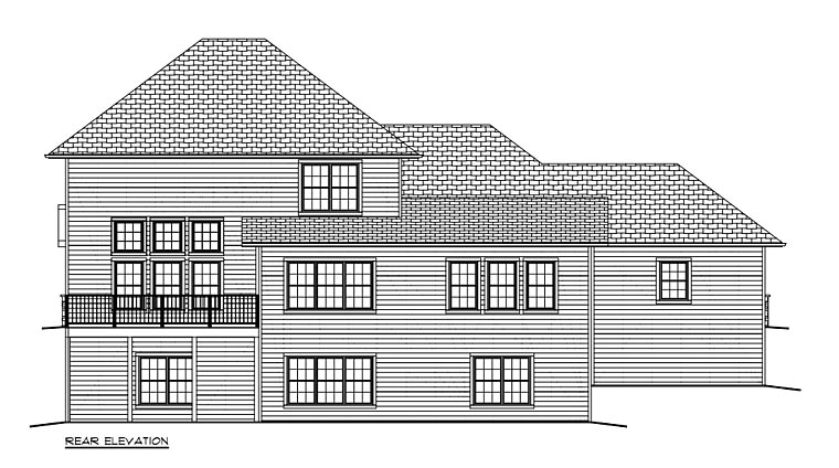 Traditional House Plan 50904 Rear Elevation