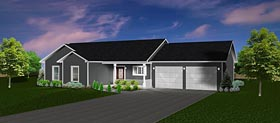 Plan Number 50905 - 1460 Square Feet