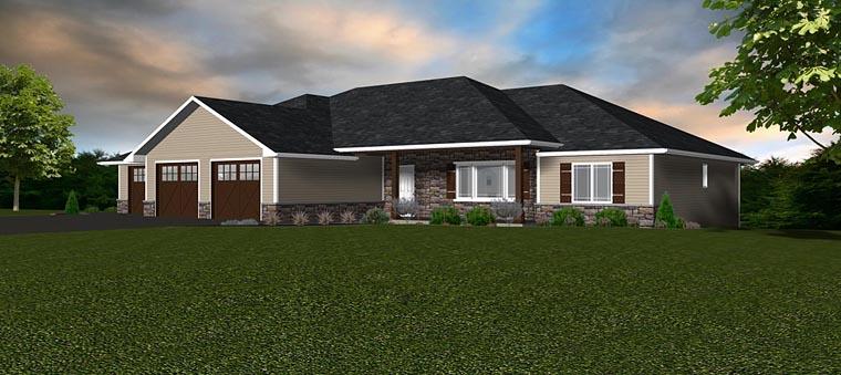 Craftsman Traditional House Plan 50906 Elevation