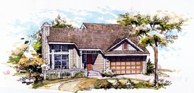 House Plan 51025 Elevation