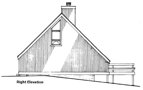 A-Frame House Plan 51028 with 2 Beds, 2 Baths Picture 2