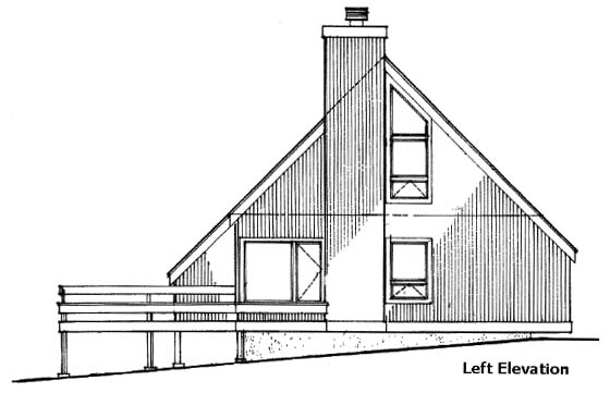 A-Frame House Plan 51028 with 2 Beds, 2 Baths Picture 3
