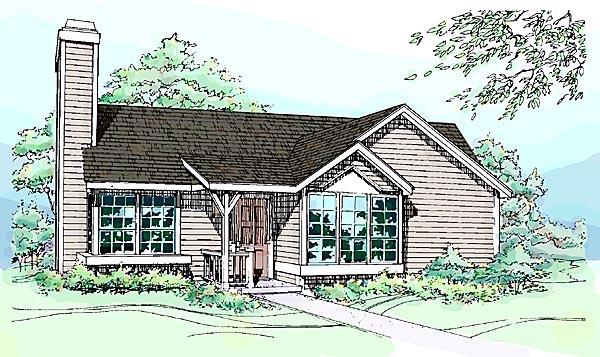 House Plan 51031 Elevation