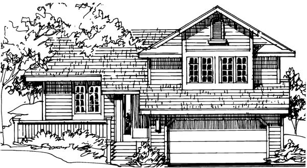 House Plan 51032 Elevation