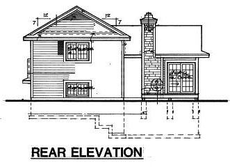House Plan 51032 Rear Elevation
