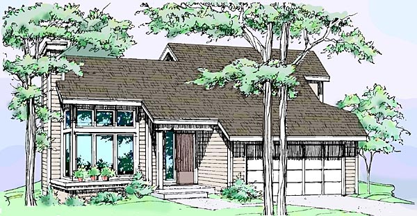 House Plan 51033 Elevation