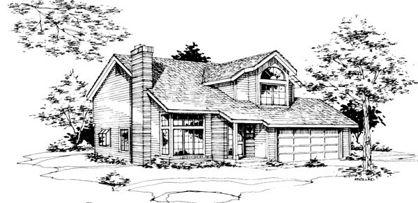 House Plan 51039 Elevation