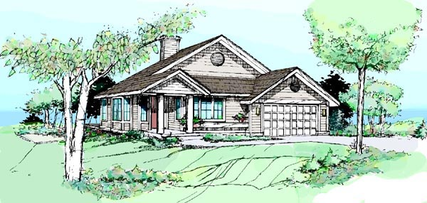 Country House Plan 51043 Elevation
