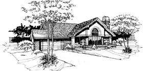 House Plan 51058 with 2 Beds, 2 Baths, 2 Car Garage Elevation