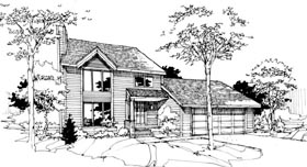House Plan 51069 Elevation