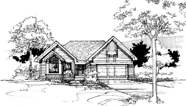 House Plan 51073 Elevation