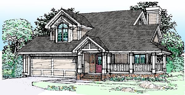 Country House Plan 51088 Elevation