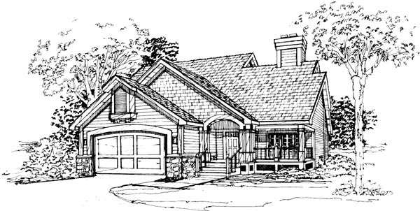 House Plan 51089 Elevation