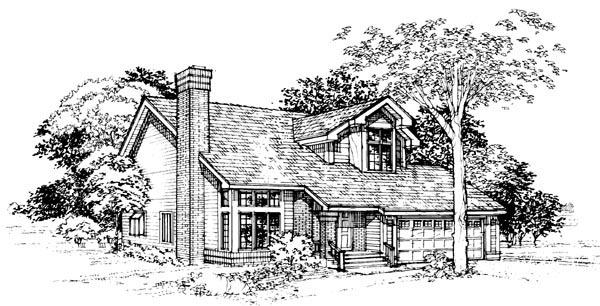 House Plan 51096 Elevation