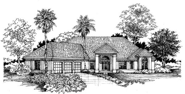 Florida House Plan 51108 Elevation