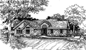 Ranch House Plan 51110 Elevation
