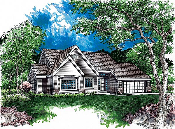 Ranch House Plan 51111 Elevation