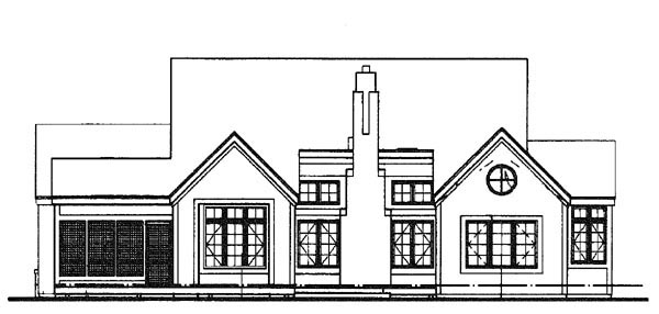 Ranch House Plan 51111 Rear Elevation