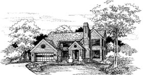 European House Plan 51112 Elevation