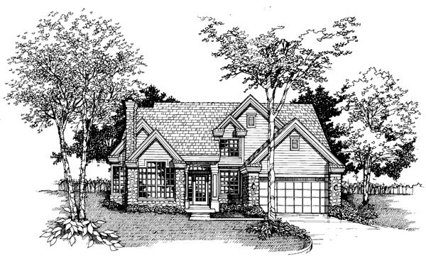 Country House Plan 51119 Elevation