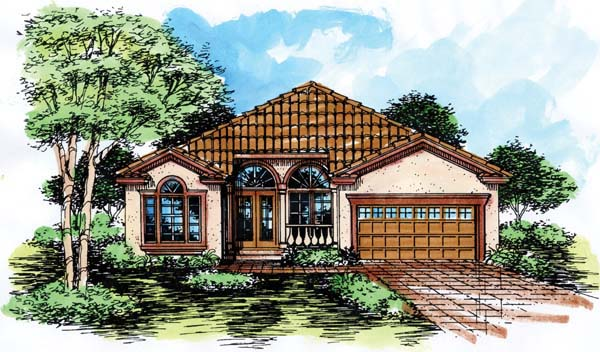 Florida House Plan 51141 Elevation