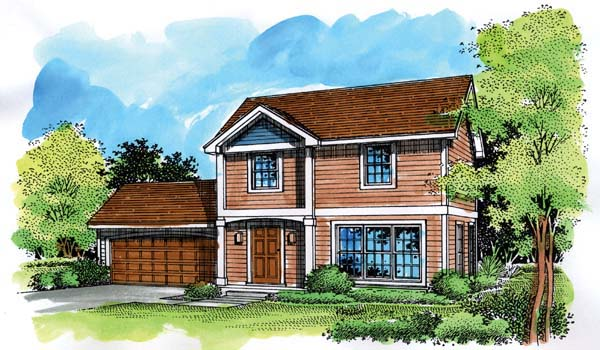 Colonial House Plan 51147 Elevation