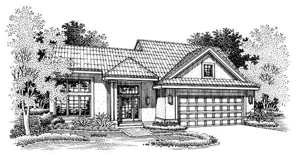 Florida Mediterranean Ranch House Plan 51148 Elevation