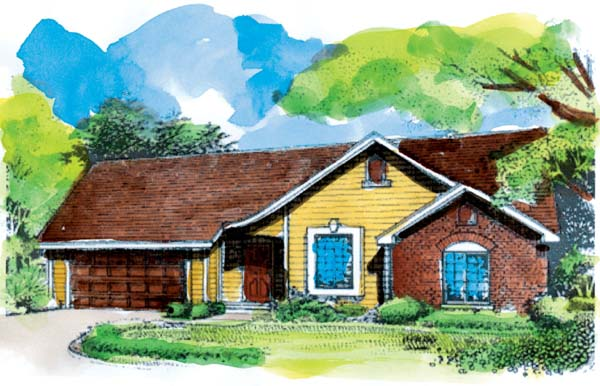 Ranch House Plan 51149 Elevation