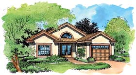 Southwest House Plan 51151 Elevation