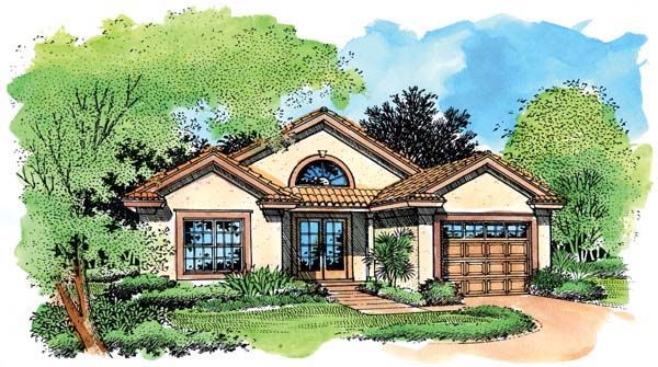 Southwest House Plan 51151 Elevation