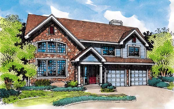 European House Plan 51157 Elevation