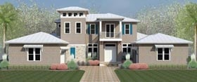 Coastal , Country , Florida , Southern , Traditional House Plan 51201 with 4 Beds, 6 Baths, 3 Car Garage Elevation