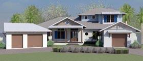 Coastal Country Craftsman Florida Ranch Southern House Plan 51203 Elevation