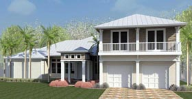 Coastal Florida Southern Traditional House Plan 51204 Elevation