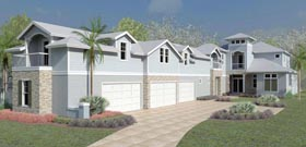 Coastal Cottage Craftsman Florida Southern Traditional House Plan 51208 Elevation