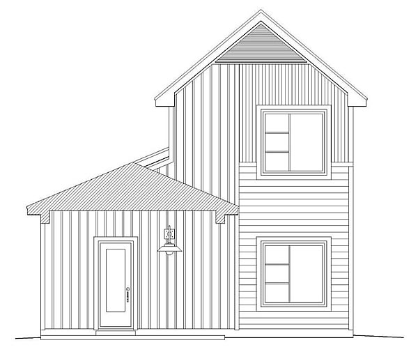 Traditional House Plan 51410 Rear Elevation