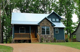 Cabin , Country , Southern House Plan 51412 with 3 Beds, 3 Baths Elevation