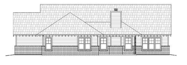 Cottage Craftsman House Plan 51414 Rear Elevation