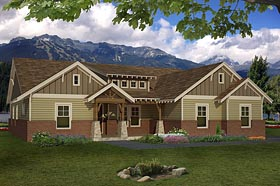 Craftsman House Plan 51417 Elevation