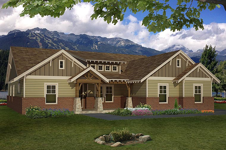 Craftsman House Plan 51417 Elevation