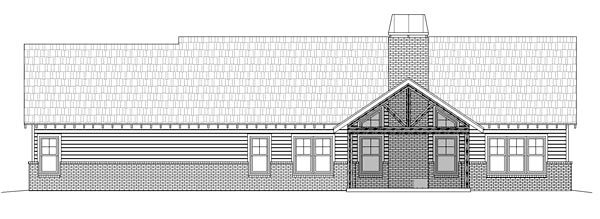 Craftsman House Plan 51417 Rear Elevation