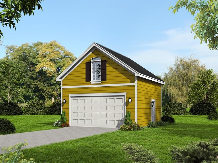 Traditional Garage Plan 51419 Elevation
