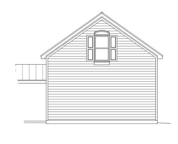 Traditional , Rear Elevation of Plan 51419