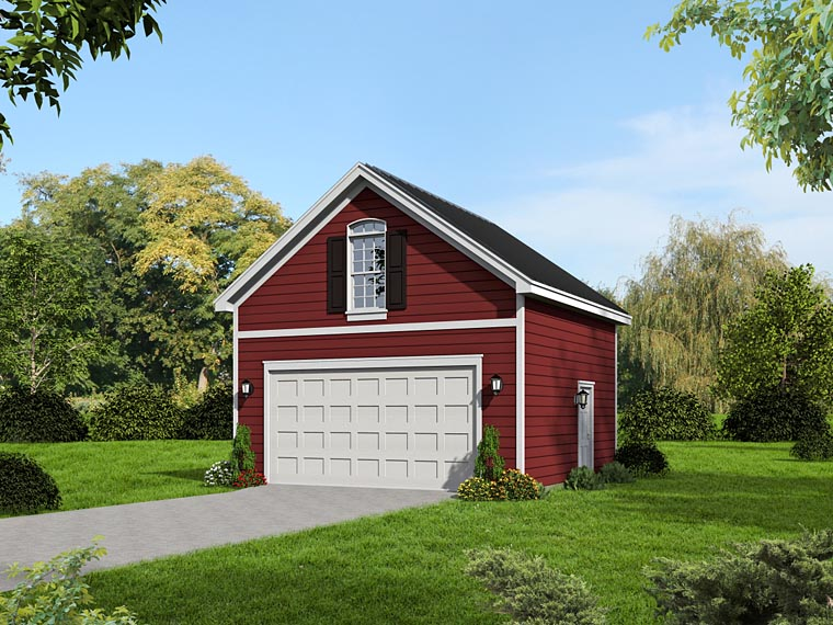 Traditional Garage Plan 51420 Elevation