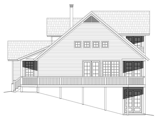 Cabin, Cottage, Country, Southern House Plan 51421 with 2 Beds, 2 Baths Picture 1