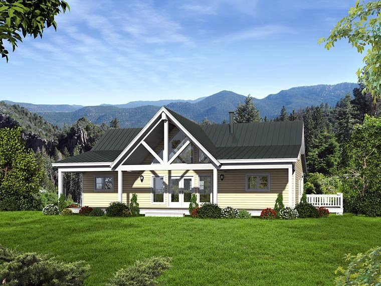 Country, Craftsman, Ranch, Traditional House Plan 51422 with 2 Beds, 2 Baths Elevation